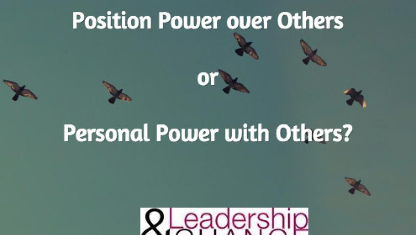Position power or personal power